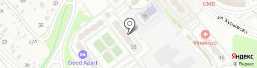 Южный на карте Домодедово