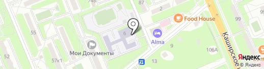 Средняя общеобразовательная школа №7 с углубленным изучением отдельных предметов на карте Домодедово