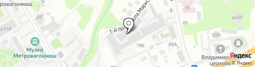 Знамя труда на карте Мытищ