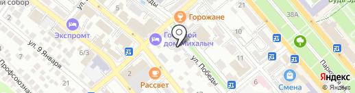 Еврофото на карте Новороссийска