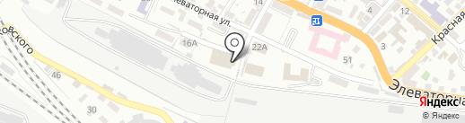Водник на карте Новороссийска