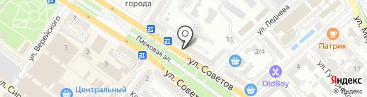 Транссертико на карте Новороссийска