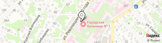 Городская больница №1 на карте Новороссийска