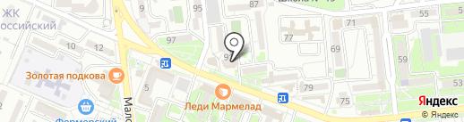 Мокрый Нос на карте Новороссийска