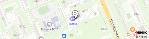 Глобус на карте Домодедово