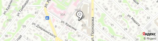 Единая служба заказа легкового транспорта на карте Новороссийска