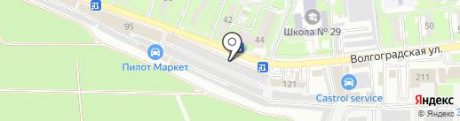 Магазин автотоваров на карте Новороссийска