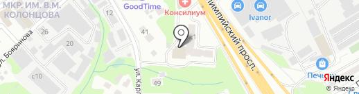 Семь Лестниц на карте Мытищ