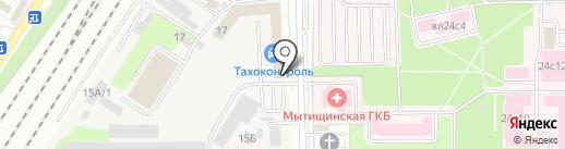 Латоника на карте Мытищ