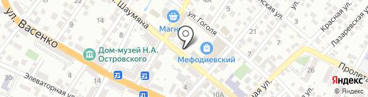 Спутник на карте Новороссийска