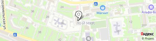Гарантия Пласт на карте Новороссийска