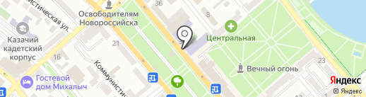 Книга, ЗАО на карте Новороссийска