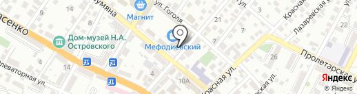 Опиовичок на карте Новороссийска