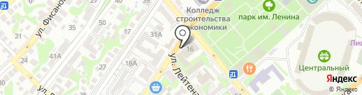 Цемес на карте Новороссийска