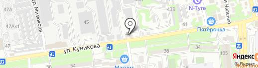 Баракат на карте Новороссийска