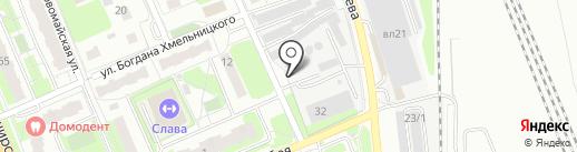 Автостоянка на карте Домодедово
