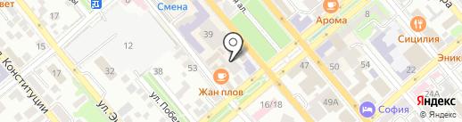Объединенные Координаты Урал на карте Новороссийска