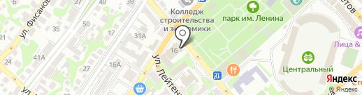 Лада на карте Новороссийска