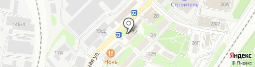 Баньки на Силикатной на карте Мытищ