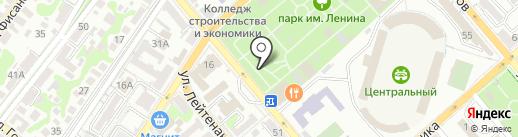 Фисташка на карте Новороссийска