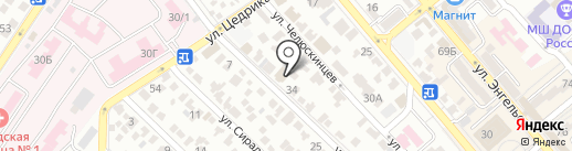 Строймат на карте Новороссийска