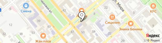 Новороссийск на карте Новороссийска