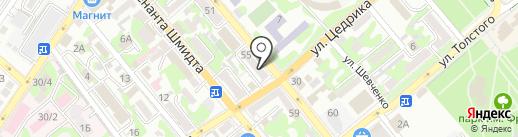 Канцелярский ларь на карте Новороссийска