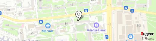 Веселая расческа на карте Новороссийска