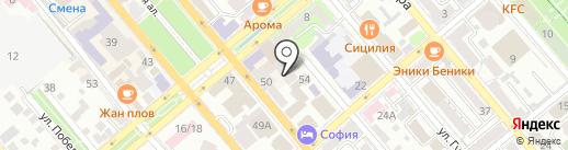 Новпроект на карте Новороссийска