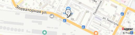 BEER лога на карте Новороссийска