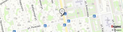 Комод на карте Новороссийска