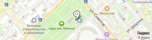 Парк культуры и отдыха им. Ленина на карте Новороссийска