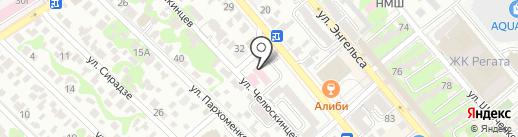 Коммунистическая партия РФ на карте Новороссийска