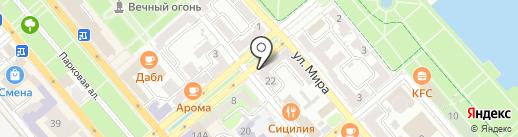 Хабл бабл на карте Новороссийска