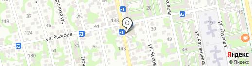 Сити почта на карте Новороссийска