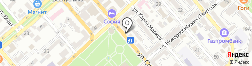 Bon Batone на карте Новороссийска