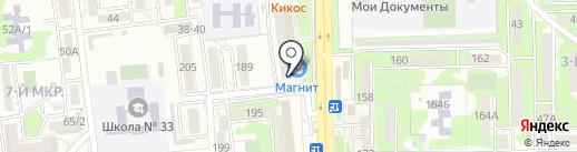 Чайкoffский на карте Новороссийска