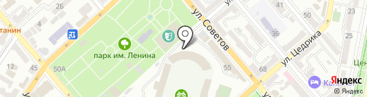 Центр физкультурно-массовой работы с населением на карте Новороссийска