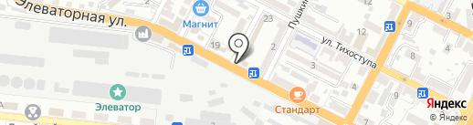 У Овика на карте Новороссийска