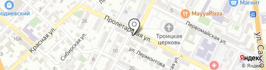 Ростовская типография на карте Новороссийска