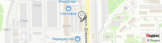 ВЕНТОС на карте Новороссийска