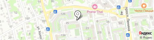 Зеркало на карте Новороссийска