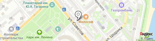 Ювекон на карте Новороссийска