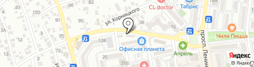 Домино на карте Новороссийска