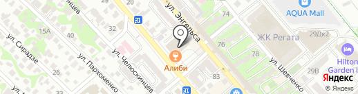 Адвокат Попко А.В. на карте Новороссийска
