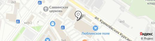 Солнечная Ладья на карте Москвы