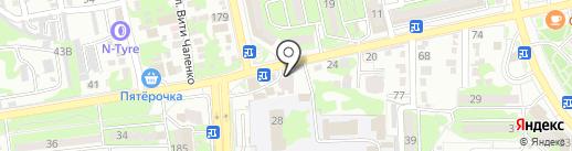 Экспресс Точка Ру на карте Новороссийска