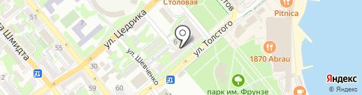 Мини-гостиница на карте Новороссийска
