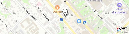 Три-З на карте Новороссийска