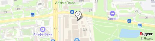 Пивзалив на карте Новороссийска